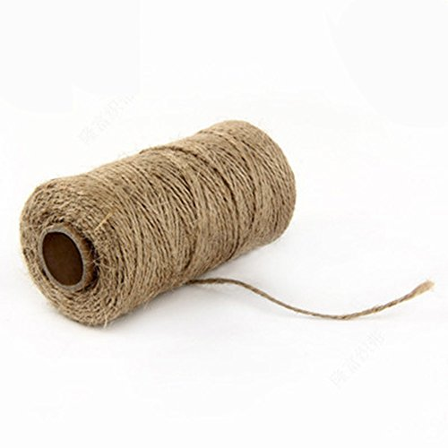 Tiki Girl Jewelry (QYSM 2 Pieces Twine 2 mm Cotton String for Gift Wrapping, DIY double color share wire decorative cotton thread)