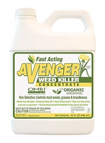 Avenger Organics Weed Killer Concentrate, 32 oz (Brick Patio Gravel And)