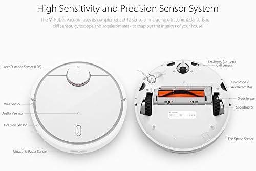 JINRU Aspirateur Robot pour La Maison Balayage Automatique Poussière Stériliser Intelligent Prévu WiFi Remote Control App