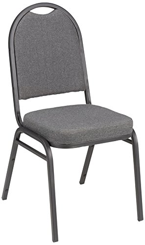 Fabric Stacking Banquet Chair with Round Back, 18'' Seat Height, Gray, ALT-200FCH-SO (Pack of 4) by Fat Catalog