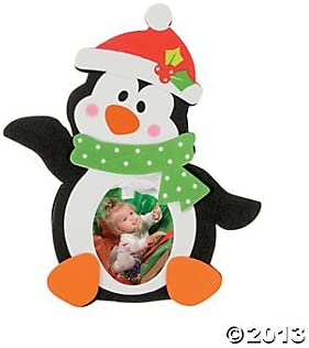Set of 12 Snowman Photo Picture Frame Magnet Craft Kit