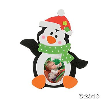 Penguin Photo Frame Magnet Holiday Craft Kit (12 per Kit)/Holiday/Ornament/Gift/Christmas (Christmas Crafts Penguins)