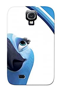 Tpu Case Cover Compatible For Galaxy S4/ Hot Case/ Rio Movie Blu And Jewel