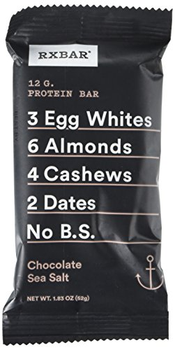 Rx Bar Chocolate Sea Salt, Protein Bar, 1.83 Oz, 12 Count