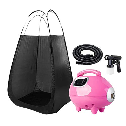 XIAOLY Tanning Salon Black Machine Pop-up Tent Tanning Sprayer Professional Spraying Machine - Low Noise (Not Including Solution),Black (Spray Tan Pop Up Tent For Sale)