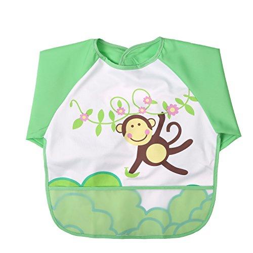 ab 6 Monaten,Gratis Baby Handt/ücher babylaza 3er Set Baby l/ätzchen mit /ärmeln Wasserdicht Wasserdicht /Ärmell/ätzchen Babyl/ätzchen Kinderl/ätzchen Kinder Sch/ürze