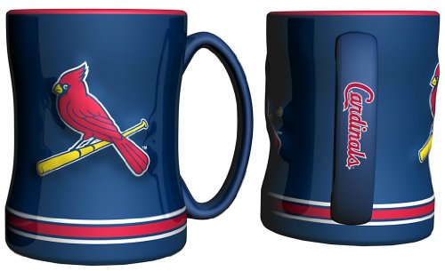 St. Louis Cardinals Coffee Mug - 14oz Sculpted Relief - (Cardinals Coffee Mug)