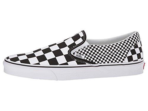 Vans Mens Slip-on (tm) Kernklassiekers (mix Checker) Zwart / Echt Wit