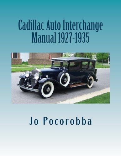Cadillac Auto Part Interchange Manual 1927-1935 (Cadillac Repair Parts)