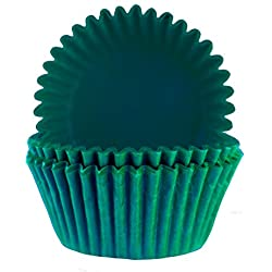 Glassine Baking Cups. Cupcake Liners, Standard Size, Pack of 50 (Emerald Green)