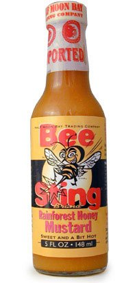 Bee Sting Rainforest Honey Mustard Hot Sauce - Habanero Honey Mustard