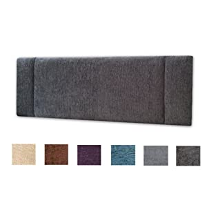 NICE HEADBOARDS Turin Fabric Portobello Headboard 3ft Single Size – Choice of 6 Colours (GREY)