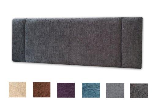Turin Fabric Portobello Headboard 5ft King Size - Choice of 6 Colours  (GREY) by NICE HEADBOARDS