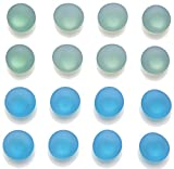 Office Magnets Fridge Magnets Refrigerator Magnets, Mymazn Whiteboard Magnets Cute Magnets Kitchen Magnets Decorative Colorful Frost Glass (8 Green 8 Blue)