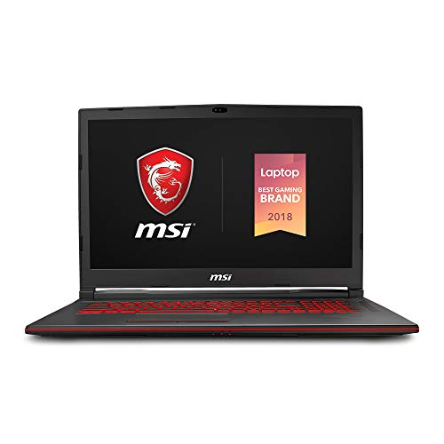 MSI GL73 8SE-028 17.3' Performance Gaming Laptop, NVIDIA RTX 2060 6G, 120Hz 3ms, Intel i5-8300H (6 cores), 16GB, 256GB NVMe SSD, Red Backlit KB, Win 10, Black
