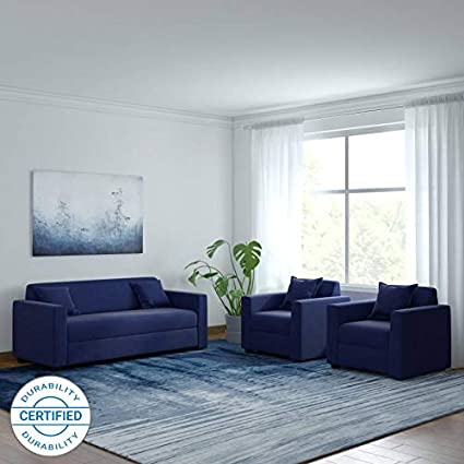 Remarkable Westido Blue Fabric 3 1 1 Lexus Sofa Set Amazon In Home Inzonedesignstudio Interior Chair Design Inzonedesignstudiocom