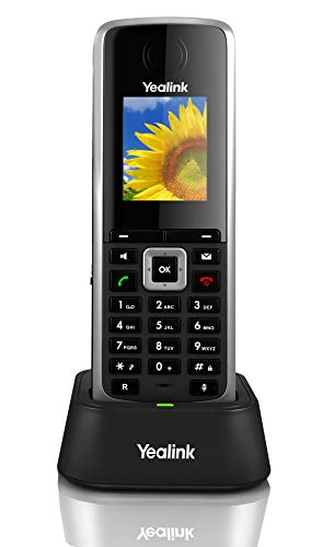 Yealink W52H Cordless DECT IP Phone, Base Station Not Included, 1.8-Inch Color Display. 10/100 Ethernet, 802.3af PoE, Power Adapter Included