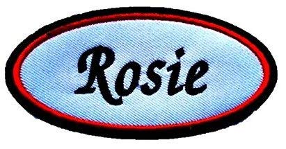 Rosie Embroidered Name Tag Sew on Patch American Women Freedom -