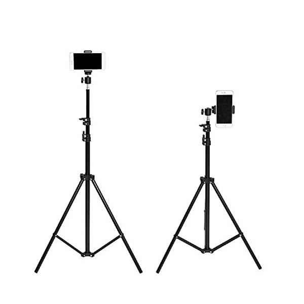RetinaPix Parkflic 55 Inches Lightweight Aluminium Tripod Mobile Holder and Carry Case for Smartphone & DSLR Camera
