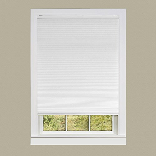 Achim Home Furnishings Honeycomb Pleated Cordless Window Shade, 35 by 64-Inch, White