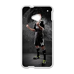 Real Madrid Black HTC One M7 Cell Phone Case White MSU7175223