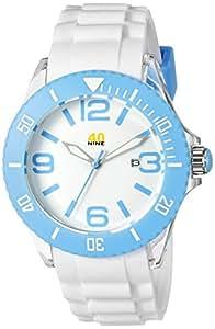 40Nine Unisex 40NINE02/SKYBLUE3 Large 45mm Analog Display Japanese Quartz White Watch