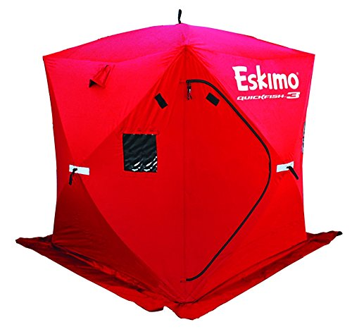 Eskimo Quickfish 69143 Quickfish 3 Pop-Up Portable Ice Shelter, 3 Person