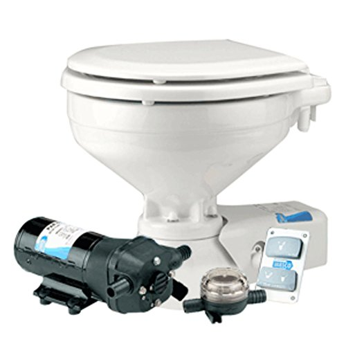 Jabsco Compact Height Quiet Flush Electric Toilet - Seawater Marine , Boating Equipment