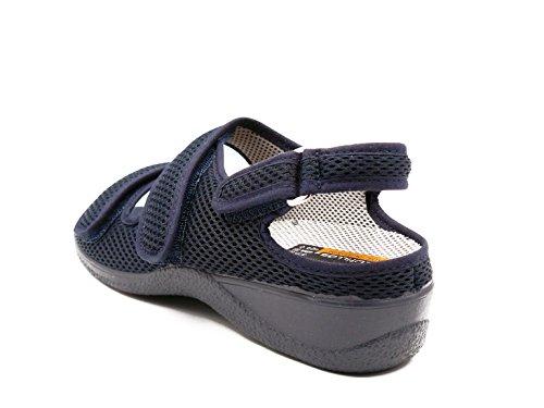 Azul Y 1125 Velcros Zapatilla Plantilla Cutillas Color Doctor Extraible Marino Marca Mujer 21821 Dos Cierre qBFvxwX
