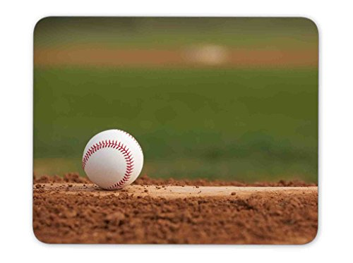 Price comparison product image Baseball Mouse Pads Customized Rubber Mouse Pad (Baseball on the Pitchers Mound)