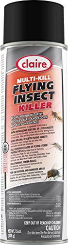Multi Insect Killer - Claire Multi-Kill Flying Insect Killer Commercial Use Instant Insect Killer, 12-20 oz cans per case