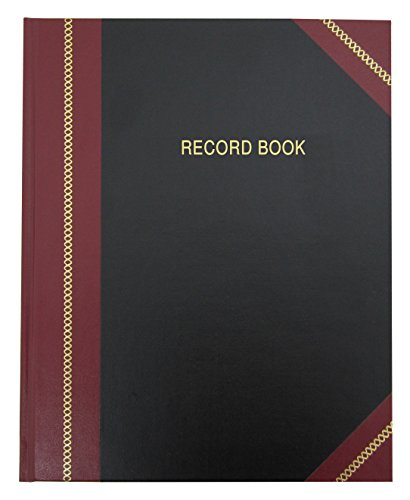 BookFactory Professional Record Book/Record and Account Notebook/College Ruled Notebook - 96 Ruled Pages (8