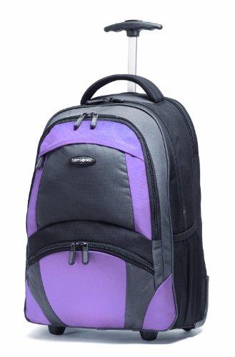 Samsonite Wheeled Backpack (19 x 10 x 13), Black/bordeaux
