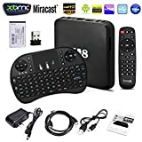 2017 New Arrivals J-DEAL Fully Loaded KODI Quad Core Android 4.4 Smart Set Top TV Box with Wireless Remote Keyboard