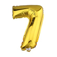 32 inch Gold Helium/Foil Balloon Number 7
