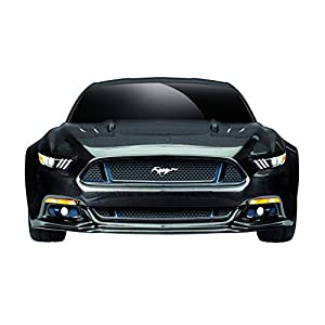 Traxxas Mustang GT Race Car Electric AWD Ford TQ 2.4GHz Remote Control, Black, Size 1/10