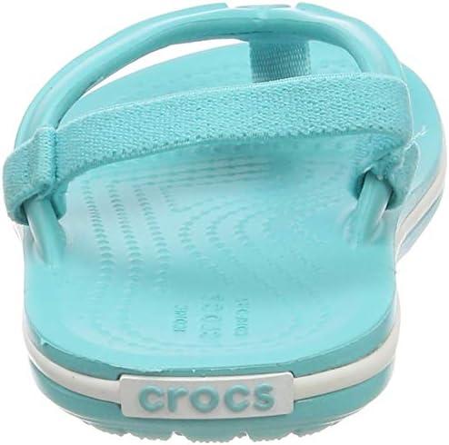 crocs Unisex-Kinder Crocband Strap Flip Zehentrenner Navy