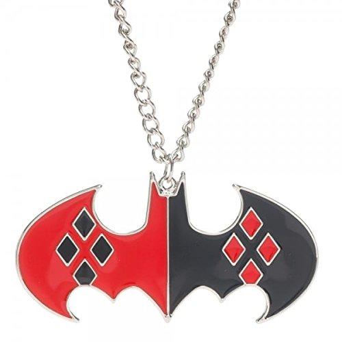 DC+Comics Products : DC Comics Harley Quinn Bat Logo Necklace
