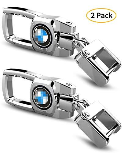 Feeke 2 Pack Car Keychain for BMW Flip Heavy Duty Key Chain for Women Men