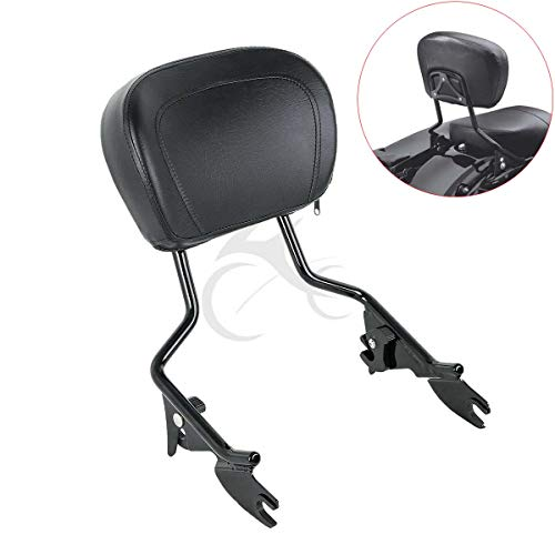 (XFMT Detachables Sissy Bar Upright Backrest Sissy Bar Compatible with Harley Touring Street Glide Road King 2009-2019)