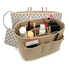 SIZE CHARTSmall Organizer Approx. 8.6 length x 4.3 wide x 6.1high (unit inch)--Fits LV Speedy 25 perfectly & LV Neverfull PMMedium Organizer Approx. 10.2 length x 5.1 wide x 6.3 high (unit inch)--Fits LV Speedy 30 perfectly .Large Organi...