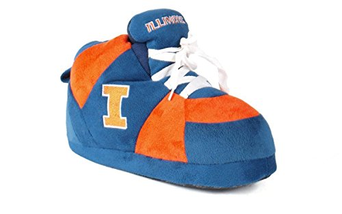 - ILL01-3 - Illinois Fighting Illini - Large - Happy Feet Men's and Womens NCAA Slippers
