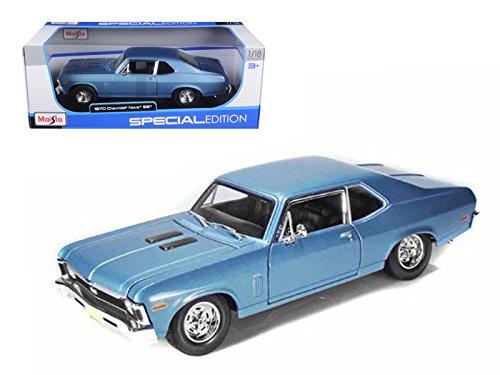 Maisto 1970 Chevrolet Nova SS Coupe Blue 1/18 Model -
