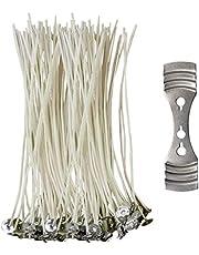 CZ Store®- Kaarsenpit✮✮LEVENSLANGE GARANTIE✮✮- Kaarsenpit 15 CM|Lot van 100 PCS + Fixatie| Kaarsenpit Natuurlijke Katoen 100% ecologisch