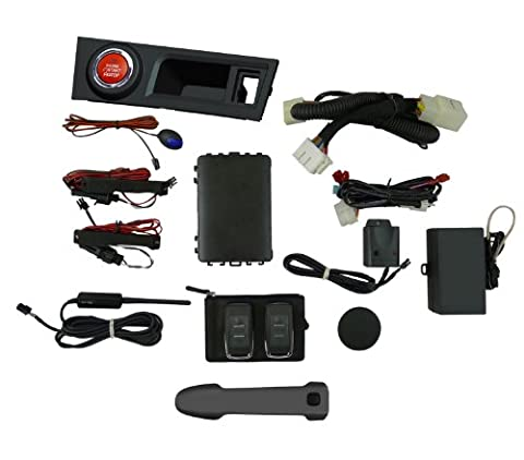 EasyGO AM-FRS-61K Smart Key Remote Start and Alarm System with Asphalt Driver's Door Handle for Scion (Push To Start System)