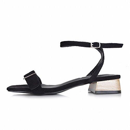 Fées Chaussures avec Simples DHG Rome Et 36 avec Noir Sandales Moyen Épais de des Sauvages rwFvg8FqYX