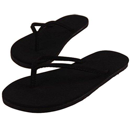de QinMM de Negro Zapatos de Playa de Verano Sandalias Chanclas Interior Mujer YqBII
