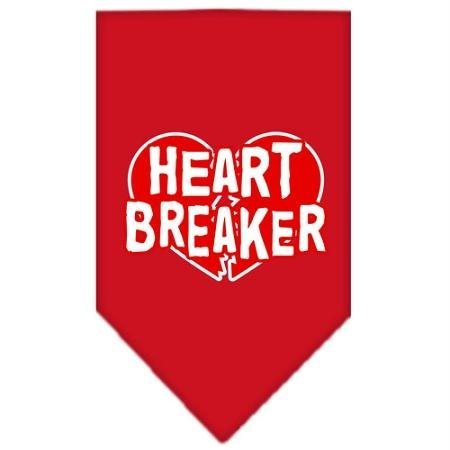 Mirage Pet Products Heart Breaker Screen Print Bandana for Pets, Large, Red (Screen Print Bandana)
