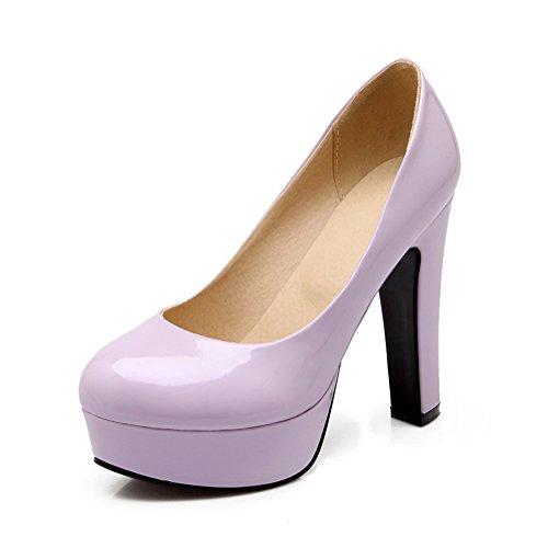 Balamasa Kvinnor Urringade Överdelar Kick-häl Lack Pumpar-shoes Lila