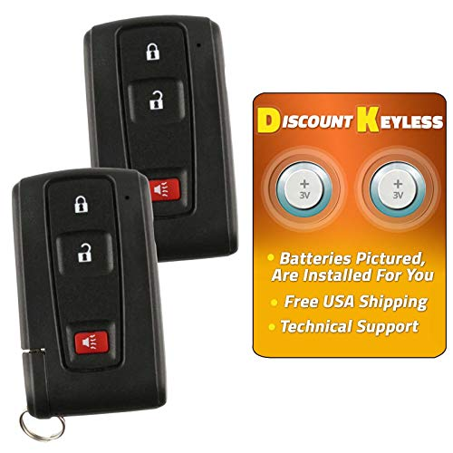 (Discount Keyless Keyless Entry Remote Smart Key Fob Compatible with Toyota Prius MOZB21TG (2 Pack))